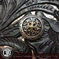 コンチョ/シルバー/ブラス/真鍮/レザーウォレット/革財布などのカスタマイズ用に/バイカーズ/財布/メンズ